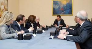 سوريا: الأسد يطالب وفد (جنيف2) الرسمي بالمحافظة على (السيادة) ورفض التدخل خارجي