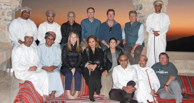 فريق الإدارة العليا لمجموعة منتجعات وفنادق أليلا العالمية يزورون نيابة الجبل الأخضر