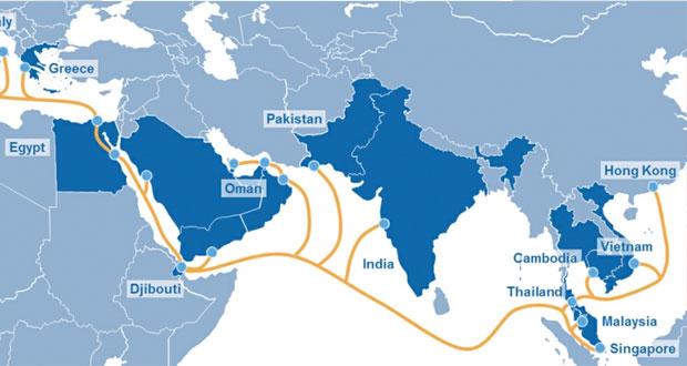 عمانتل توقع اتفاقية للاستثمار في بناء أحد أكبر أنظمة الكوابل البحرية في العالم