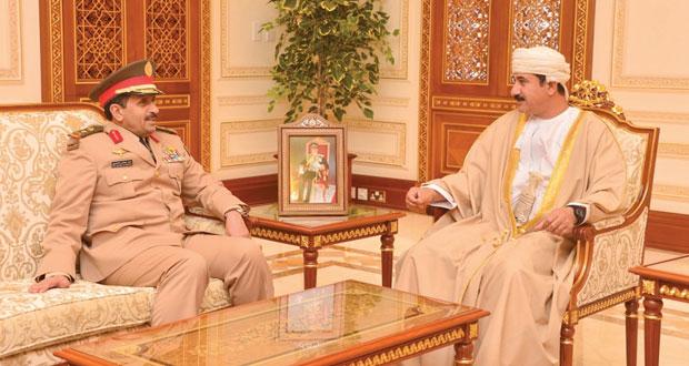 النعماني يستقبل قائد القوات البرية الملكية السعودية