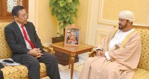 بدر بن سعود يستقبل سفير جمهورية سنغافورة
