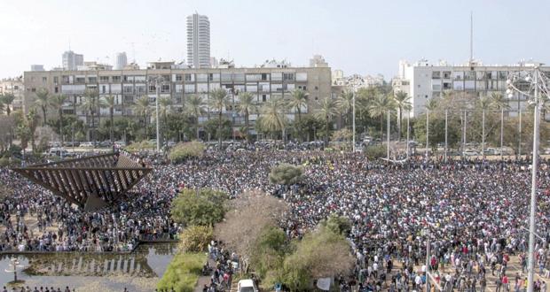 """آلاف الأفارقة يتظاهرون وسط تل أبيب طلبا لحق """"اللجوء"""""""
