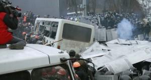 أوكرانيا: جريحان على الأقل في مواجهات بين متظاهرين والشرطة