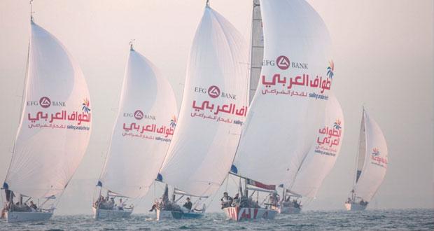 فريق البحرية السلطانية العُمانية يُنضم للطواف العربي للإبحار الشراعي – أي اف جي