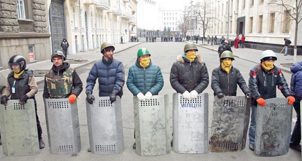 أوكرانيا: الرئيس وقوات الأمن خارج كييف  والبرلمان يحدد 25 مايو لـ(الرئاسية المبكرة)