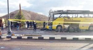 مصر: مقتل 3 سياح كوريين والسائق في تفجير استهدف حافلة سياحية بطابا