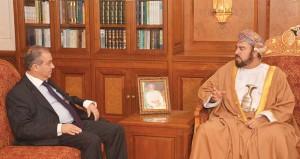 أسعد بن طارق يودع سفير قبرص لانتهاء مهام عمله