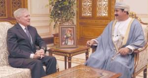 """سلطان النعماني يستقبل وزيري """"البحرية الأميركية """" و""""الدولة للتنمية الدولية البريطاني"""""""