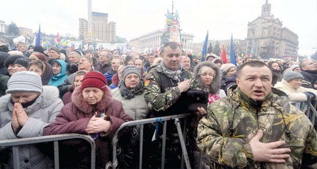 أوكرانيا : المعارضة تخلي بلدية كييف