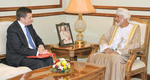 يوسف بن علوي يستقبل عضو البرلمان البريطاني