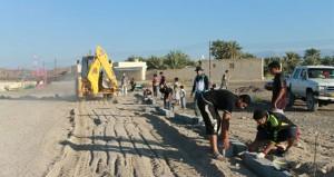 شباب وأهالي بلدة الجل بنـزوى ينفذون عددا من المشاريع الإجتماعية والخدمية من خلال معسكر العمل الثالث