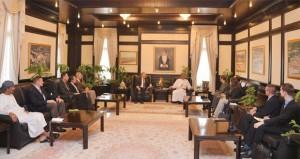 الرواس يستقبل وفد المجلس الوطني للعلاقات العربية والأميركية