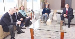 راوية البوسعيدية وبدر بن حمد يستقبلان القنصل الفخري للسلطنة لدى الولاية المتحدة الأميركية ببنسلفينيا