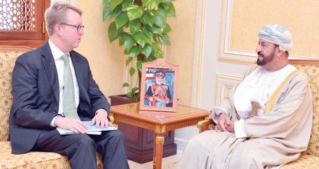 بدر بن سعود يستقبل نائب مساعد وزيرالدفاع الأميركي