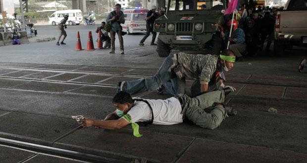 تايلاند :مسيرات احتجاجية وصدامات عشية الانتخابات