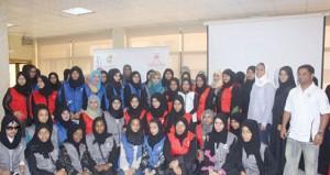 محاضرتا حقوق الإنسان وتجربة الفريق النسائي تثري معسكر فتيات الأندية
