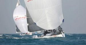 القوارب المشاركة في الطواف العربي للإبحار الشراعي تشارك في احتفال دولة قطر باليوم الرياضي