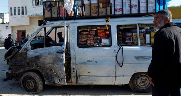 إصابة فلسطينيين في قصف إسرائيلي وسط غزة
