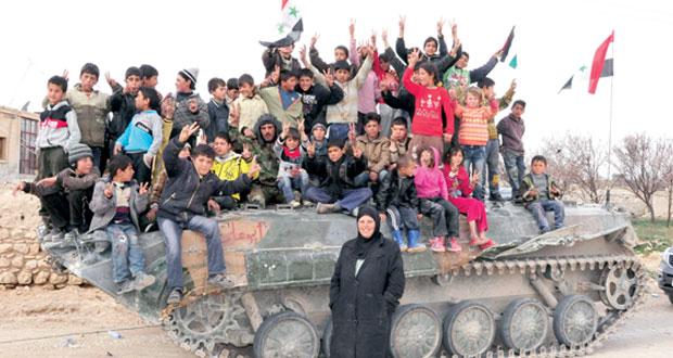 سوريا ترفع العلم بـ(الحصن) وتعزز السيطرة على (القلمون)