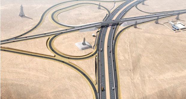 بلدية مسقط تواصل تنفيذ تقاطعات المعبيلة الجنوبية من طريق مسقط السريع