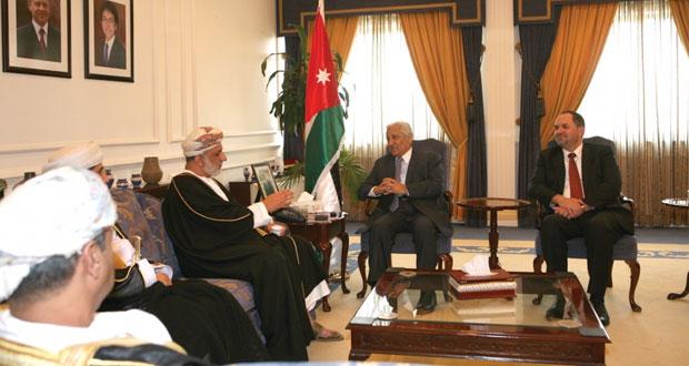 عبدالملك الخليلي يلتقي رئيس الوزراء وكبار المسئولين الأردنيين