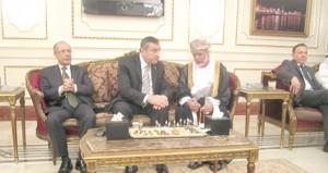 يوسف بن علوي يفتتح المقر الجديد لسفارة السلطنة في مصر