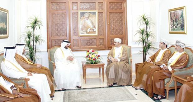 سلطان الحبسي يستقبل وزير التنمية الإدارية القطري