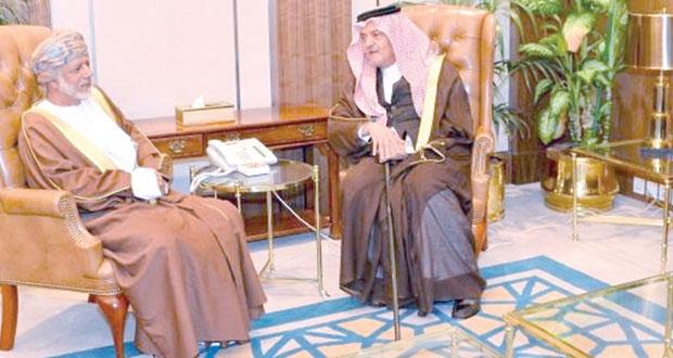 سعود الفيصل يستقبل يوسف بن علوي بالرياض