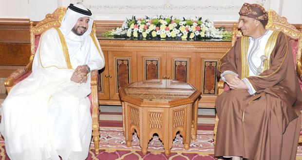 فهد بن محمود يستقبل وزير التنمية الادارية القطري