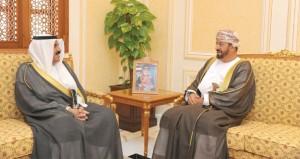 بدر بن سعود يستقبل سفراء الكويت والعراق وإيران