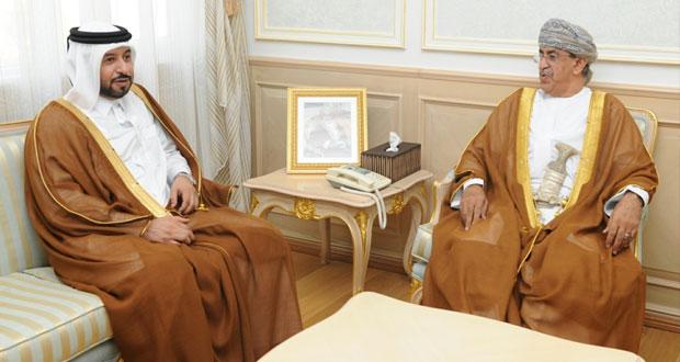 السعيدي والشيبانية يستقبلان وزير التنمية الادارية القطري