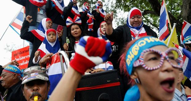 تايلاند: تظاهرات مناهضة للحكومة في بانكوك.. عشية الانتخابات العامة