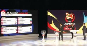 في قرعة كأس آسيا 2015 .. منتخبنا الوطني فى المجموعة الأولى الحديدية مع استراليا وكوريا الجنوبية والكويت
