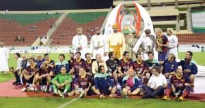 برشلونة يتوج بكأس عمان للأساطير على حساب غريمه ريال مدريد