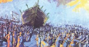 عرض أعمال الدفعة الأولى من المعرض العماني الفني الطائر