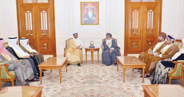 المنذري والمعولي وابن علوي يستقبلون رئيس مجلس الأمة الكويتي