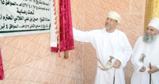 افتتاح جامع الشيخ سعيد بن عبدالله الجرادي بالمصنعة