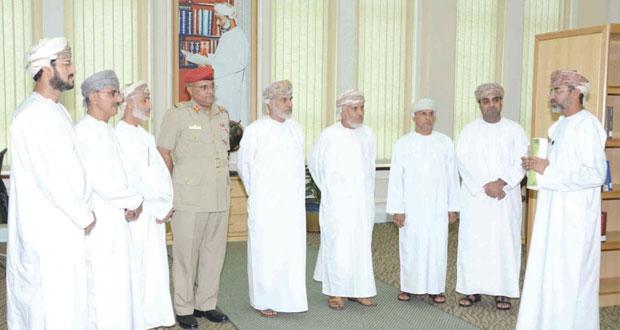 وفد لجنة التعليم بمجلس الدولة يزور كلية الدفاع الوطني