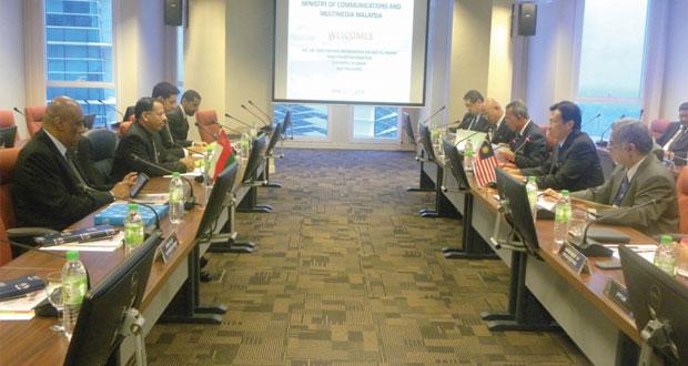 جلسة مباحات رسمية بين السلطنة وماليزيا في المجال الاعلامي
