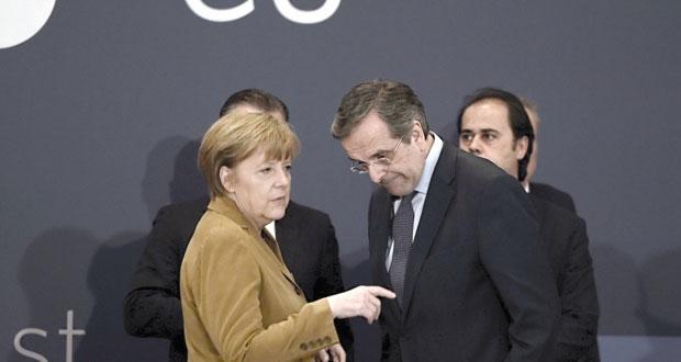 ميركل تدعم النهوض الاقتصاد اليوناني وتحث على مواصلة الإصلاحات