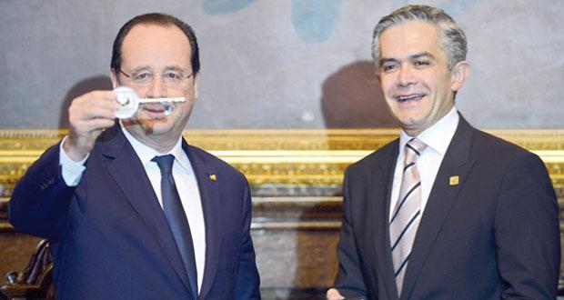 فرنسوا هولاند يختتم زيارة للمكسيك بالتوقيع على 30 اتفاقية تعاون