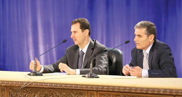 سوريا: الأسد يؤكد أن (الأزمة) تنعطف ناحية إنجازات الجيش و(المصالحة)