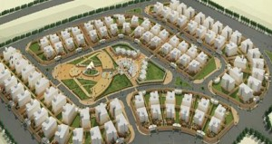 طرح مناقصة لإنشاء الطرق وتسوية الموقع للمنطقة السكنية الجديدة واعتماد النماذج المعمارية لمنازل الأهالي بفلل مفردة ومزدوجة