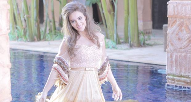 ديانا حداد تعرض أغنيتها المغربية المصورة في الفضائيات