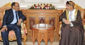 رسالة شفوية لجلالة السلطان من الرئيس الموريتاني