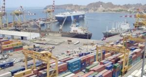 12.7% ارتفاعا بإجمالي البضائع في ميناء السلطان قابوس بنهاية الربع الأول من 2014