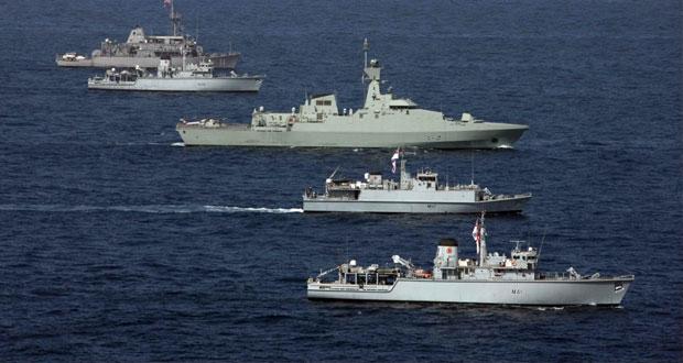 """البحرية السلطانية العمانية تنفذ البيان العملي للتمرين البحري المشترك """" خنجر حاد """""""