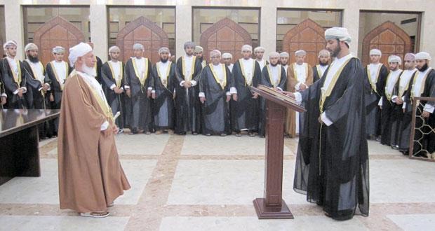 سبعة وعشرون قاضيا يؤدون اليمين القانونية