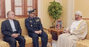 بدر بن سعود والنبهاني والعبيداني يستقبلون قائد القوات الجوية الايراني