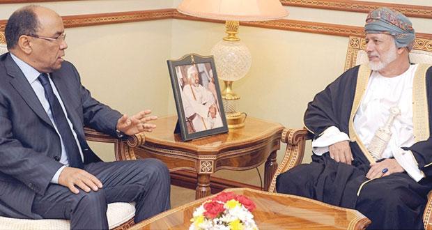 يوسف بن علوي يستقبل وزير الشؤون الخارجية الموريتاني